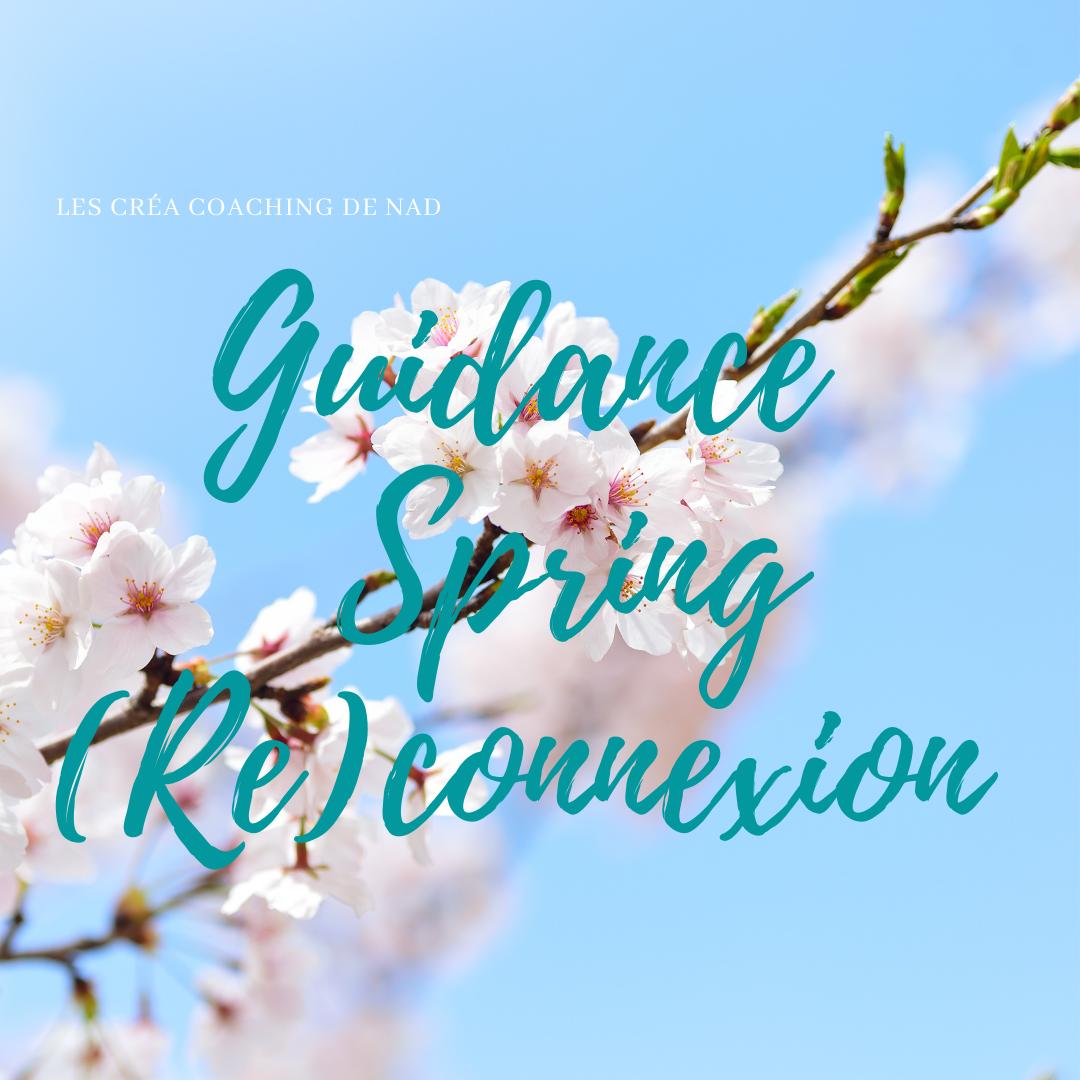 Une guidance spéciale printemps pour aller se reconnecter avec la puissance de l'énergie du printemps!
